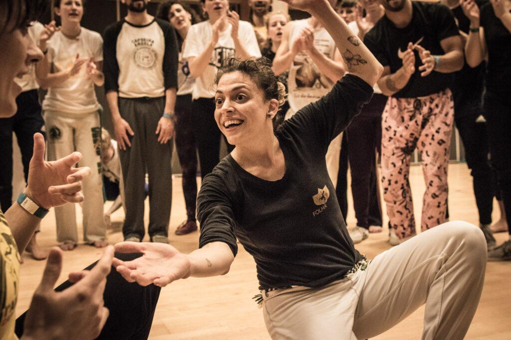 Contra Mestra Jana at Capoeira Meeting Copenhagen 2019 - Mulher na Roda